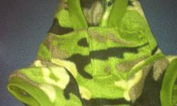 Hi there I have a little fleece camo sweater that my dog wore once, it is a size small, very cute!! $15 paid $25 for it Have a good day :) This ad was posted with the Kijiji Classifieds app.